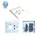 High quality copper conductor PC plate 13A wall socket with switch