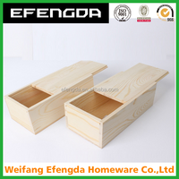 wholesale unfinished slid lid cheap solid wood box