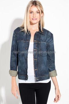 Unisex Faded Denim Jacket/dark Blue Denim Jacket - Buy Unisex ...