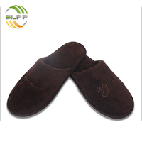 Top quality coral fleece men slippers for travel and beach