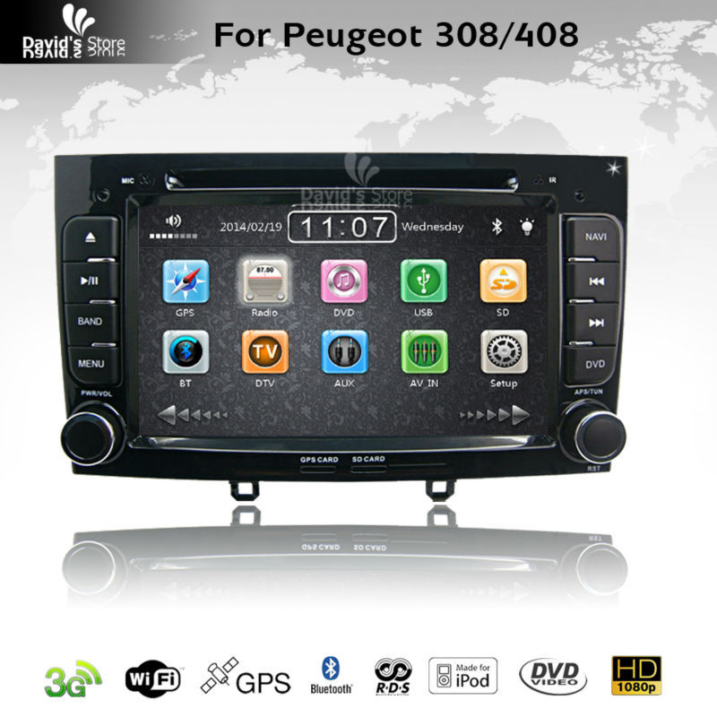 car stereo gps navigation for peugeot 308 408 multimedia headunit sat nav autoradio radio rds. Black Bedroom Furniture Sets. Home Design Ideas