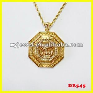 18k gold plated pendant nepal necklace jewelry muslim jewelry
