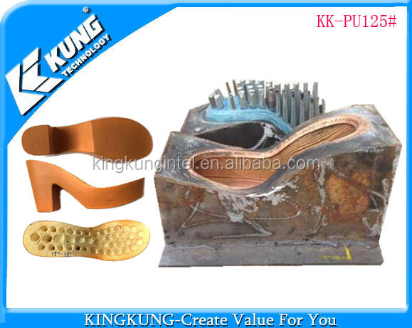 PU lady high heel shoes outsole copper mould