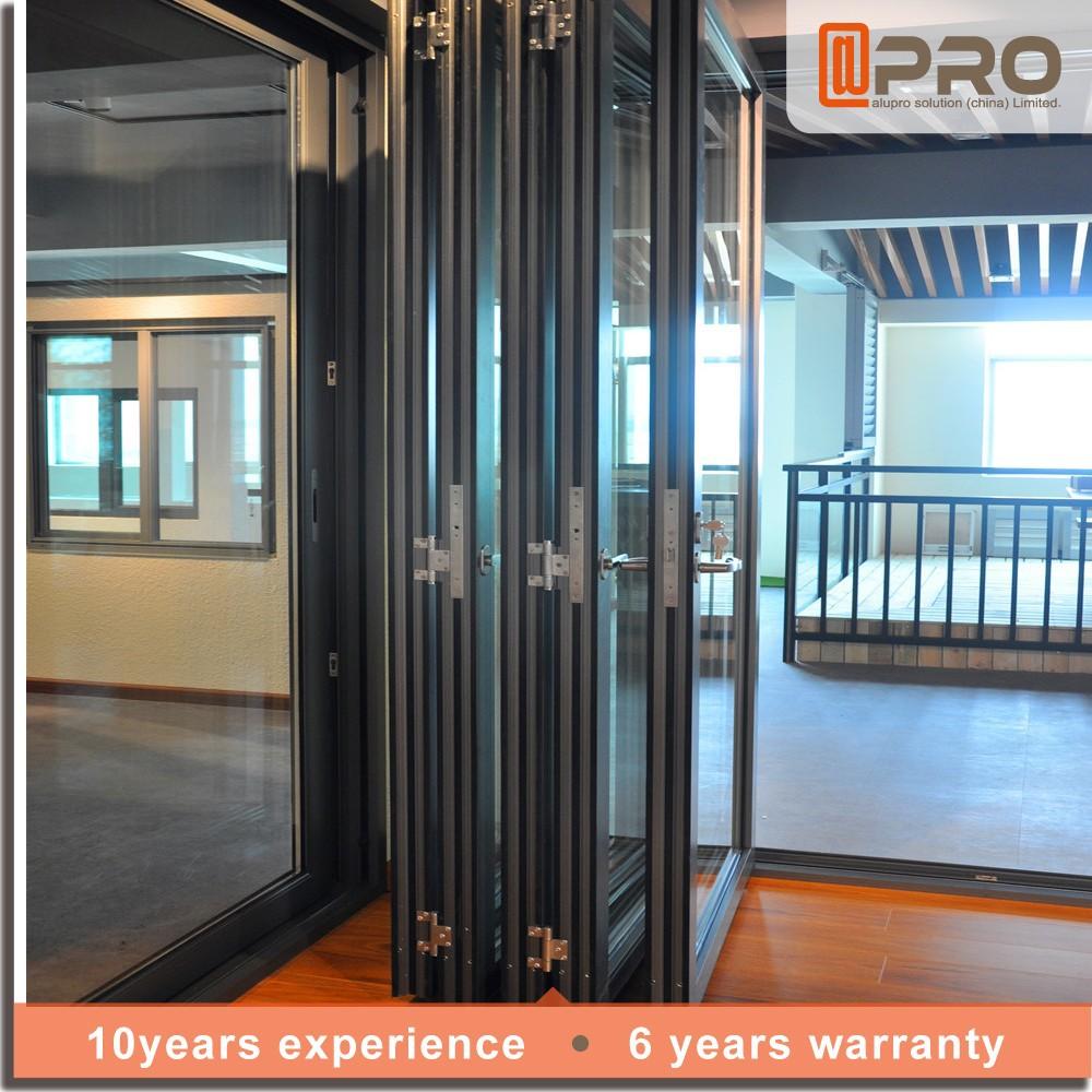 Aluminio bi plegable puerta puerta plegable precio vidrio - Precio puertas plegables ...