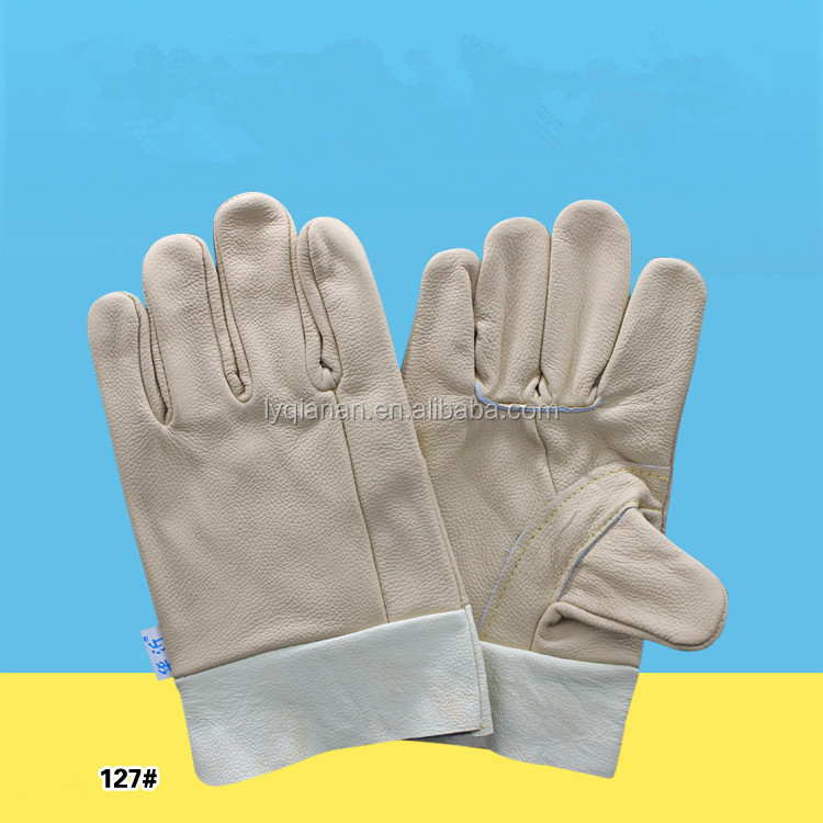 Top Grade Whole Leather Labor Insurance safety hand Gloves