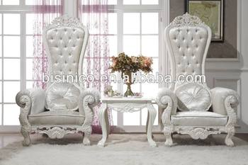 Luxury Living Room Furniture Elegant Royal Queen Chairs Set Anne European
