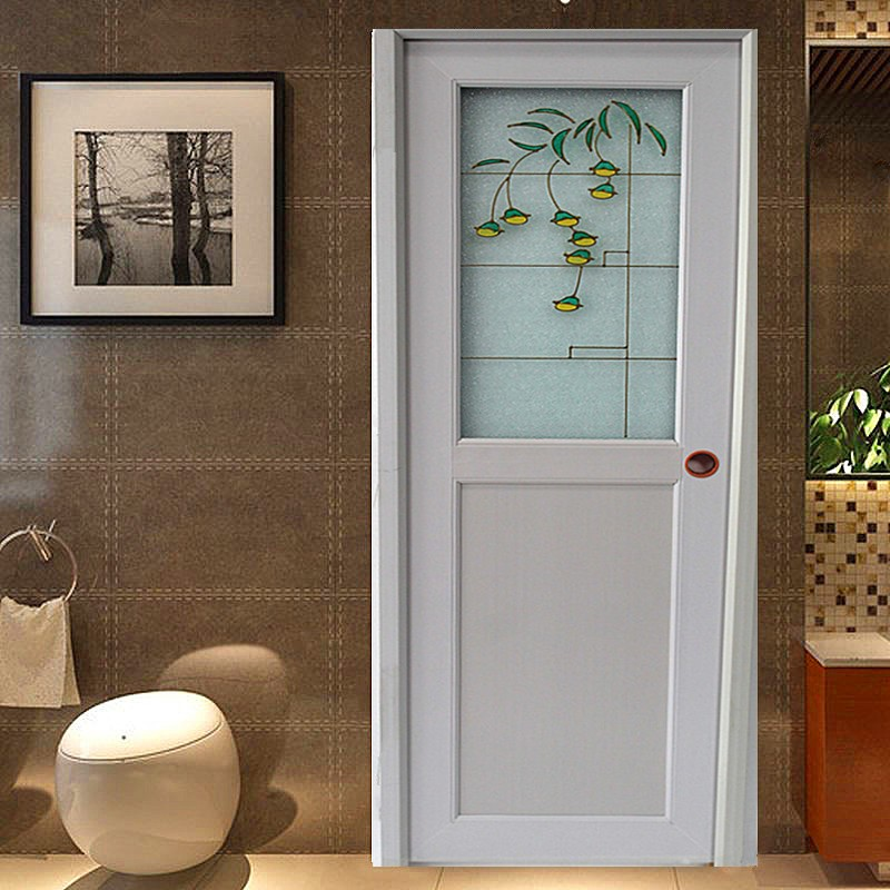 Pvc Model Bathroom Door Plastic Toilet Door With Decorative Glass Wk P016 Buy Pvc Bathroom