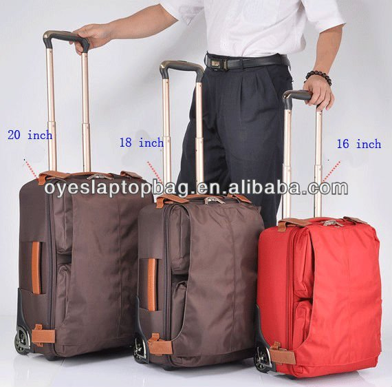 3 piece large space trolley luggage set