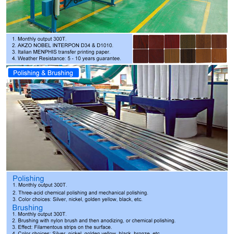 6000 Series Aesthetics Aluminum Square Tube Extrusion Profile