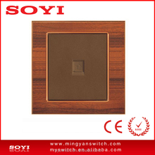 wooden design mechanical electric switch TEL socket