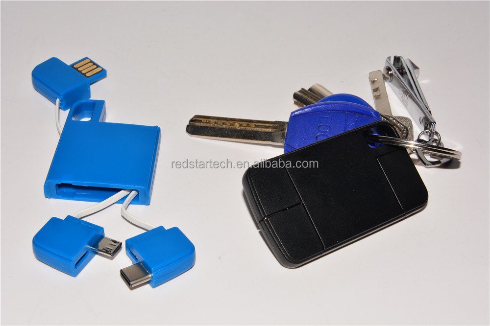Plastic 2 in 1 Type C and Micro USB Cable