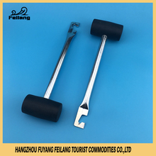 New Black Rubber Mallet With Steel Handle Multi-Function Safety Puller Tent Hammers Walking