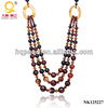 trendy costume necklace semi-precious stone agate bead necklace