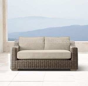 Most popular outdoor furniture cheap patio furniture rattan loveseat sofa