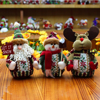 DM 548 Festivel table decoration gift Santa Claus snowman christmas ornaments
