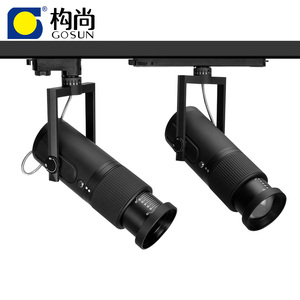 double zoomable 10-70 or 15-45 degree adjustable cob 30w commercial art gallery museum led track light