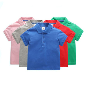Children Short Sleeve Different Colors baby boys fashion Polo T shirt kids tops child wear wholesale clothes boys polo shirts