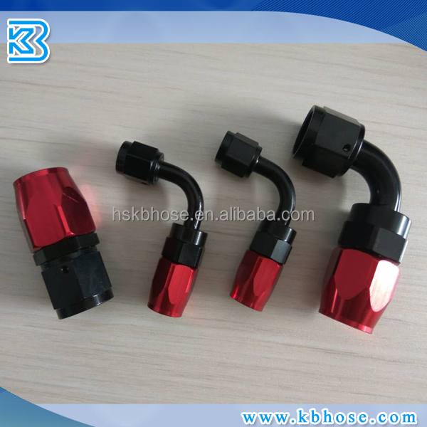 Swivel hose end aluminum fitting adaptor for AN4 AN6 AN8 AN10 AN12 Stainless braided hose