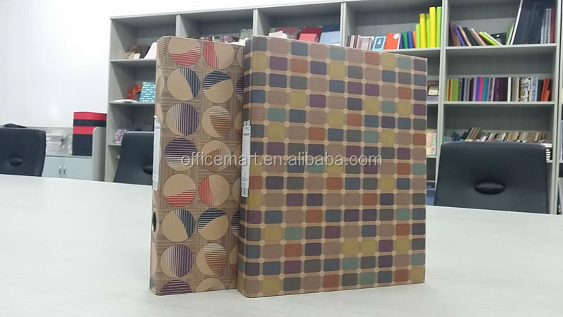 Eco friendly kraft A4 A5 FC 2 rings 3 rings ring binder