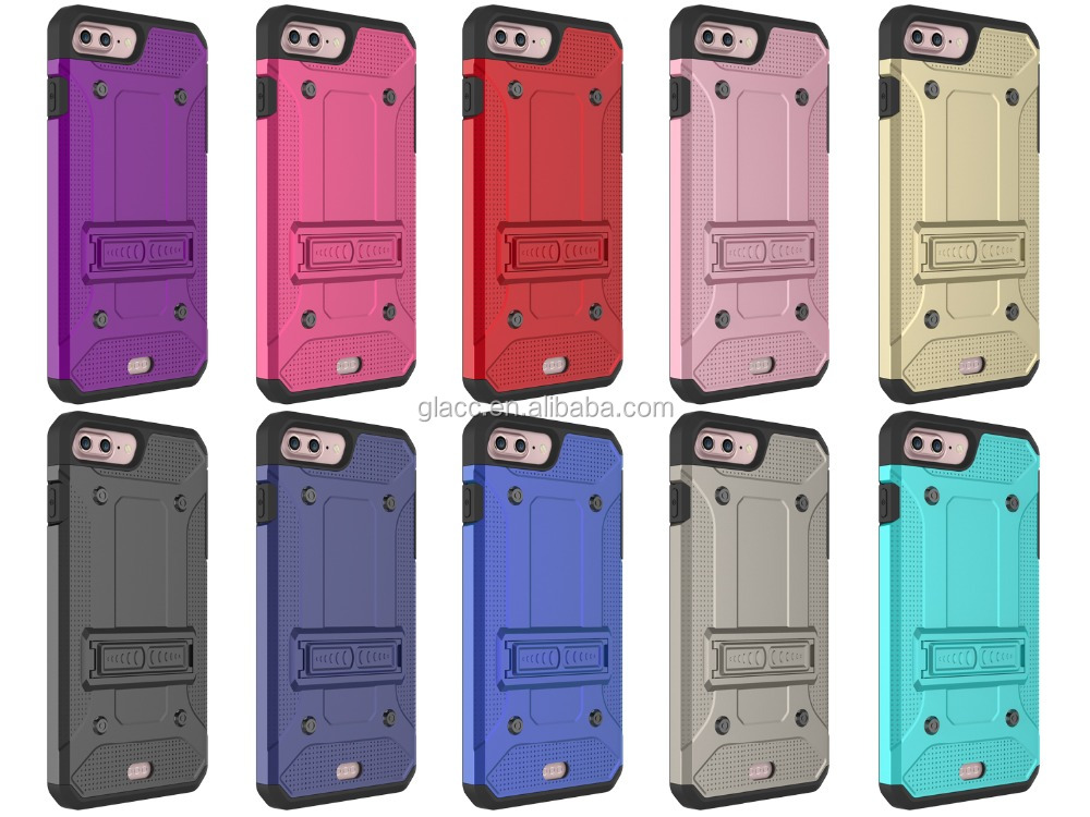 wholes Dual Layer Impact Heavy Duty Rugged Hybrid Hard Case Cover for iphone 7 Case, kickstand case accessories