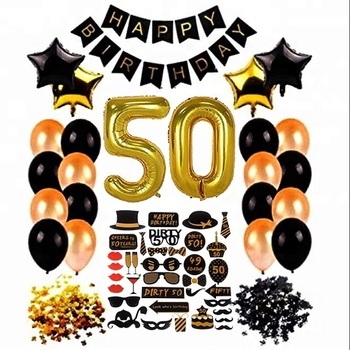 50th Birthday Ideas Birthday Banner Latex Balloon 50th Photo Booth Props  50th Birthday Party Decoration Set - Buy 50th Birthday Party Decoration