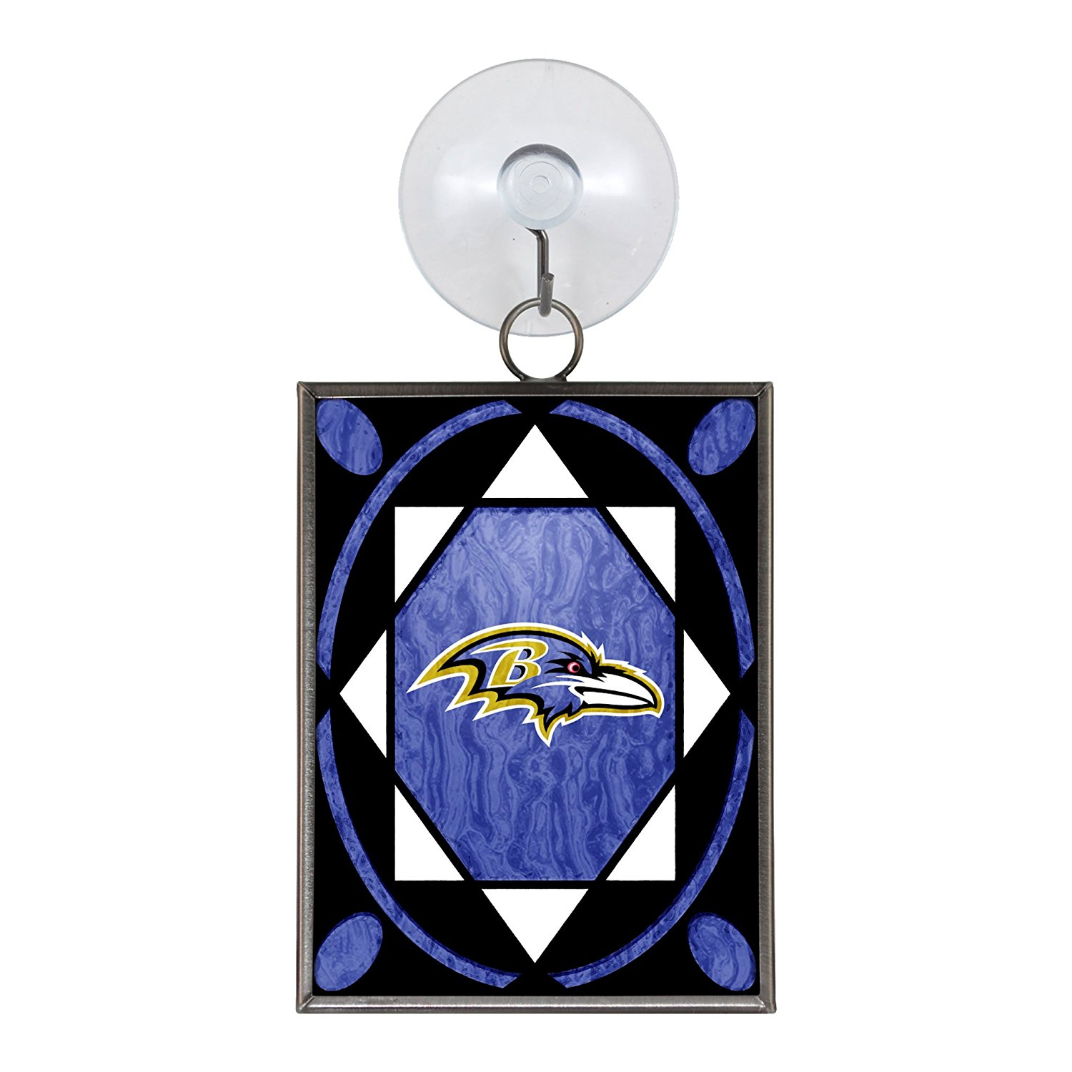 NFL Baltimore Ravens Stained Glass Ornament