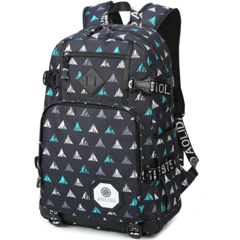 Featured Front Zipper Pocket Cheap Colleage Book Bagpack 600D Polyester Canvas School Backpack With Laptop Compartment