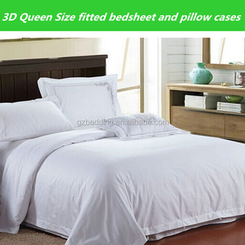 3d queen size fitted bedsheet and pillow cases buy 100 cotton flat sheets for hotel use bed. Black Bedroom Furniture Sets. Home Design Ideas