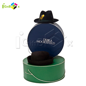 Antique Decorative Extra Large Round Cardboard Storage Cowboy Packaging Hat Boxes for Shipping Baseball Cap with Lids