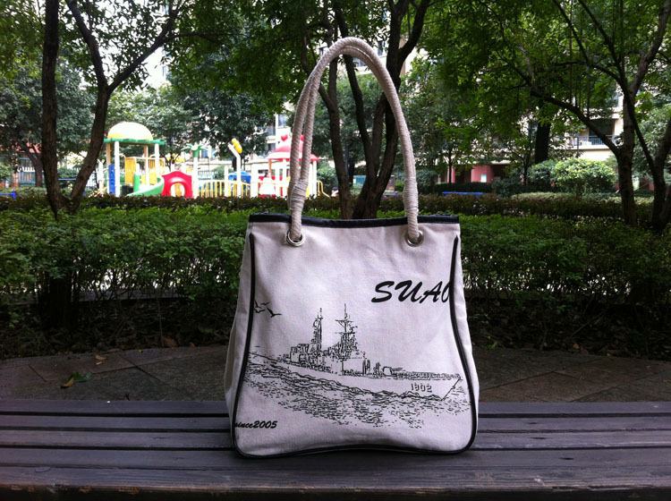 High quality cotton korean tote bag