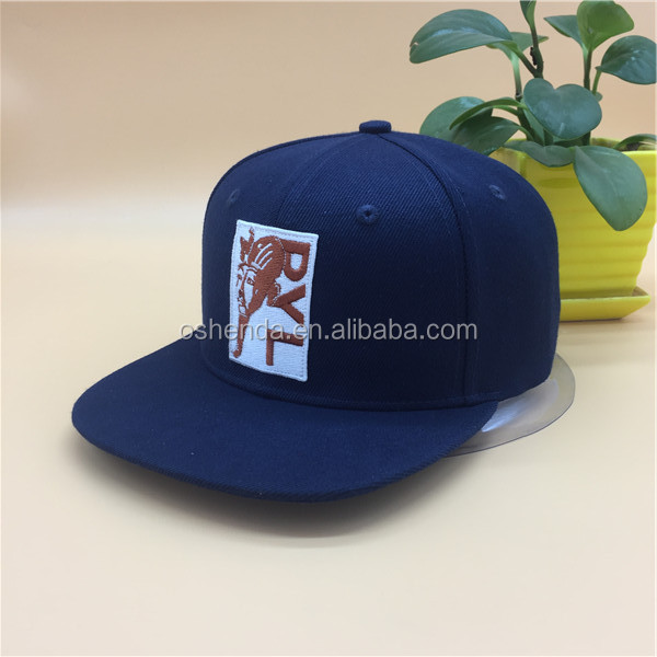 Flat Brim Customize Snapback Hats And Caps wholesale with embroidery