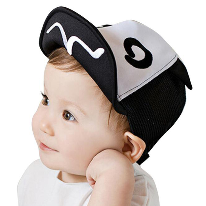 2016 Summer Children Kids Snapback Hats Boys Gilrs Mesh Soft Brim Flanging Sun hat Baseball Cap