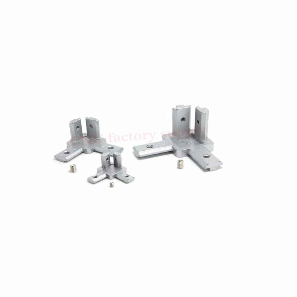 L type 3-dimensional bracket 2020 Concealed 3-way corner connector EU standard 20/30 series Aluminum Profile Accessories