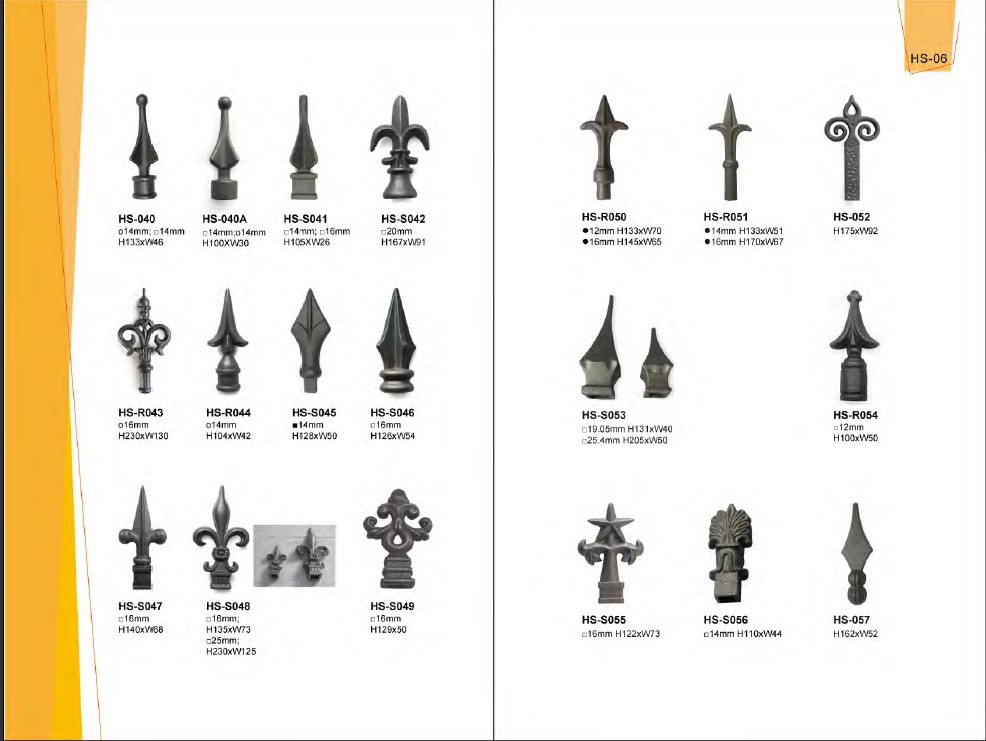 Fence Post Finials Ornamental Cast Iron