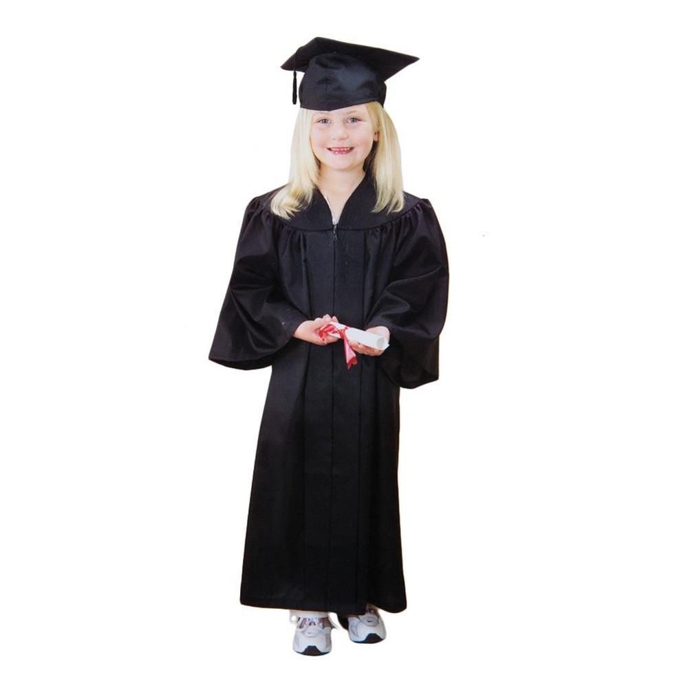 Cap and gown for kindergarten - Black Kindergarten Kids Graduation Cap And Gown Preschool Children Graduation Gown