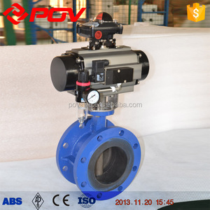 250mm flange butterfly valves with pneumatic actuator