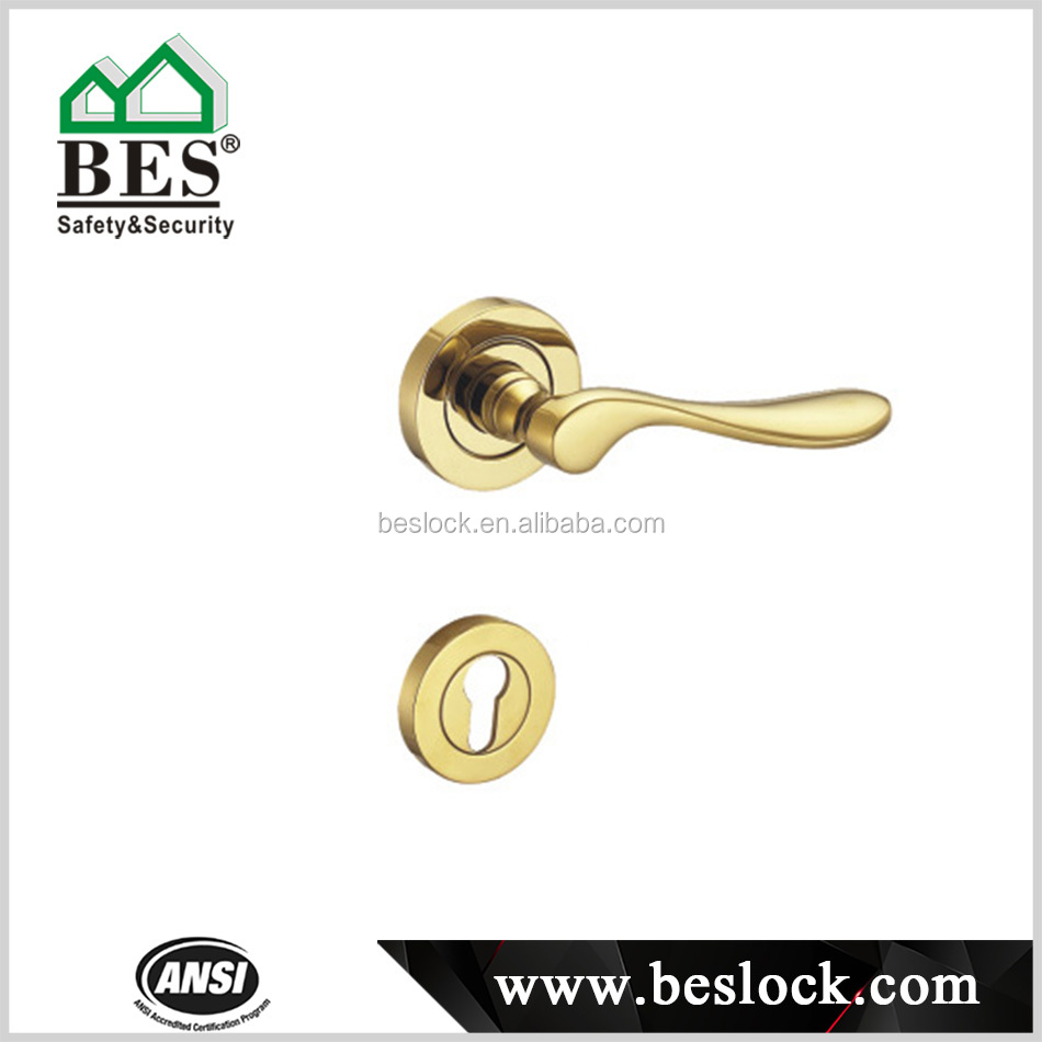 Brass Commercial Tubular Lever Door Handles Lockset