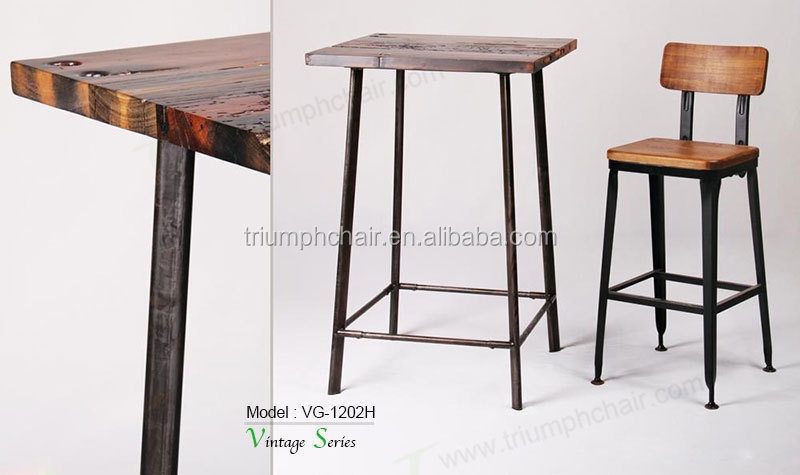 Triumph Solid Wood Seating Rustic Finishing Metal Iron