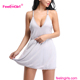 Backless Woman Sleeping Mini Dress White Sexy Teddy Lingerie