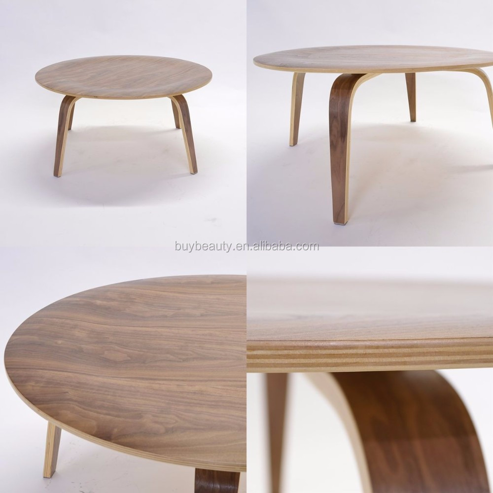 CTW Modern Style Plywood Round Tea Table