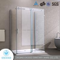 New Design Frameless Tempered Glass Hinged Shower Door Cost