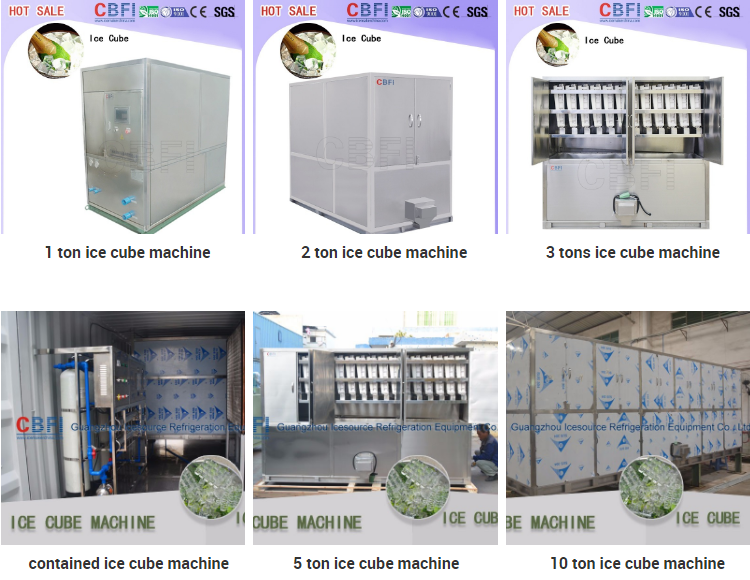 Edible ice production machinery CV500 cube ice maker 500kg/24h