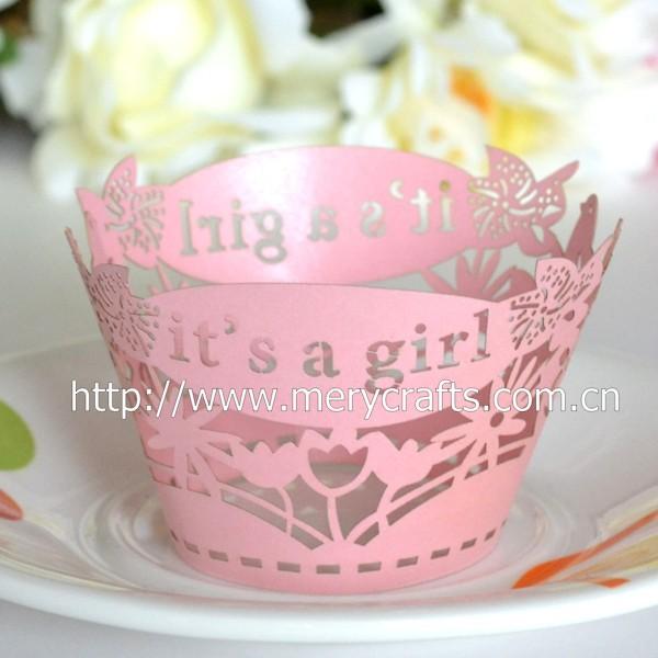 baby shower decoratie laser gesneden cupcake wrapper voor cupcake wrappers vormpjes taart