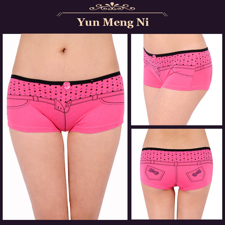 Wholesale Lady short panties cheap cotton short underwear for ...