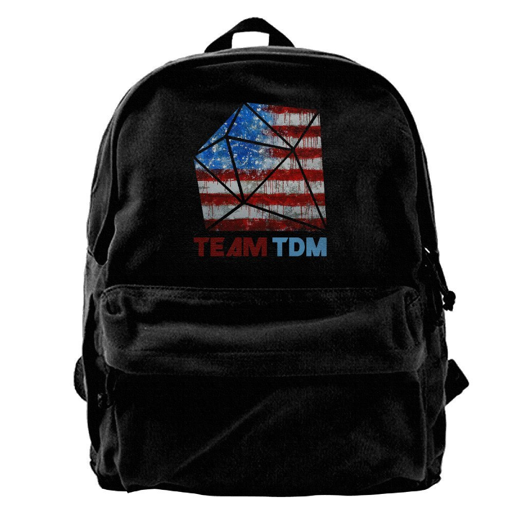 Canvas Backpack, TDM Design American Flag Casual Laptop College Bag Daypack For Travel, Hiking, Camping