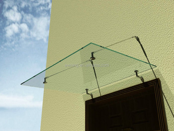 Beau Glass Door Canopy Awning With Stainless Steel Bracket