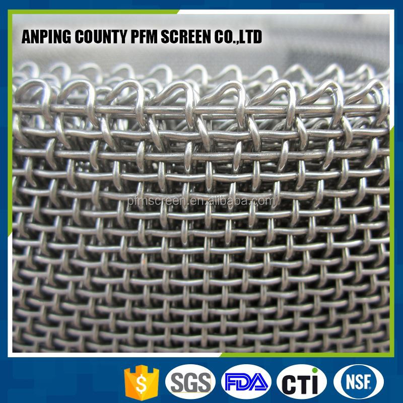 China Factor Stainless Steel Square Hole Woven Wire Mesh