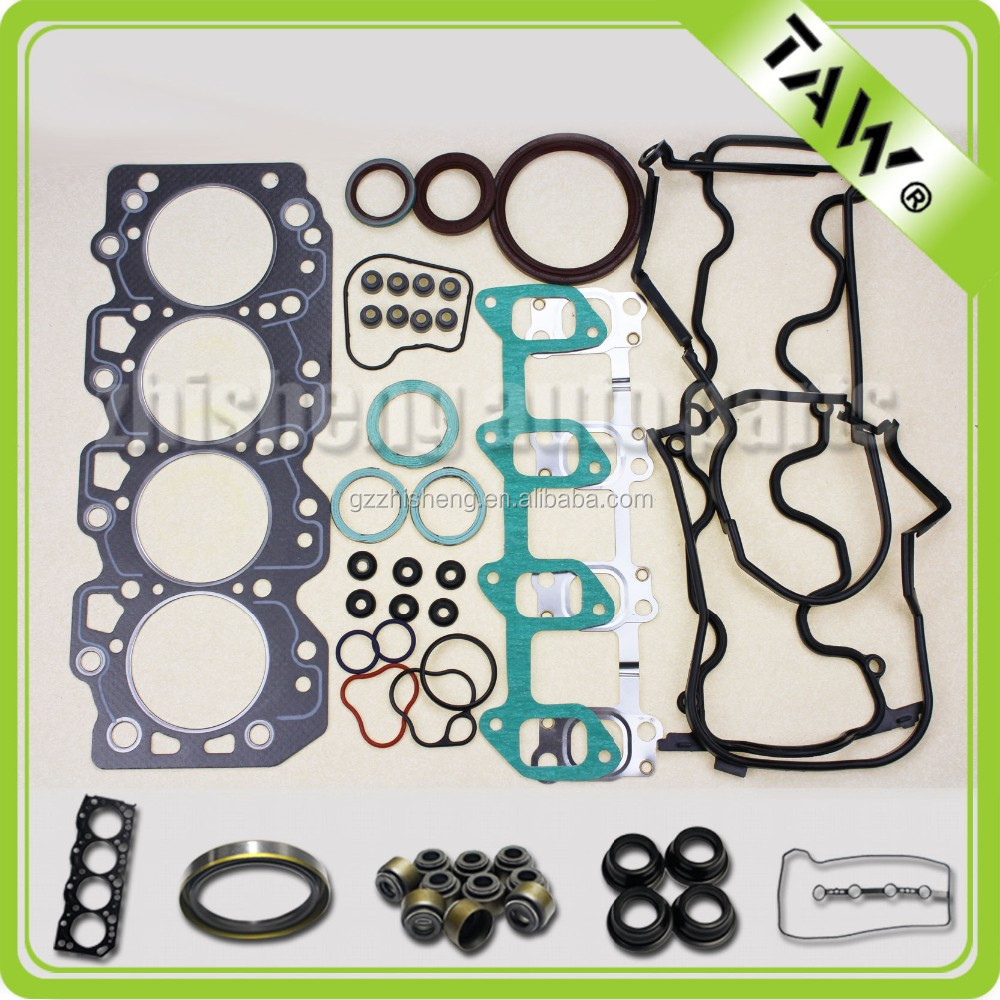 Full Gasket Set, Cylinder Head Gasket Kit, Valve Cover Gasket for Toyota Corolla Diesel 2C Engine