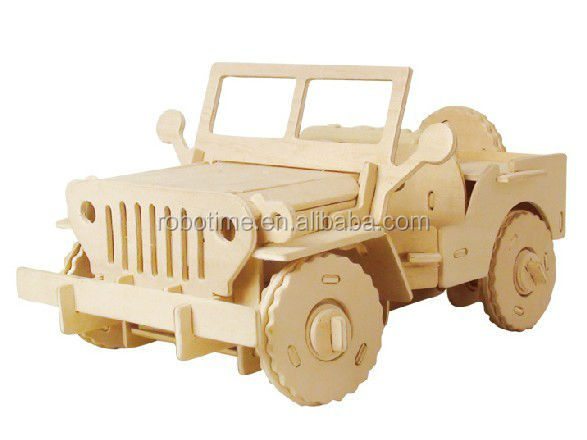 wooden jeep model