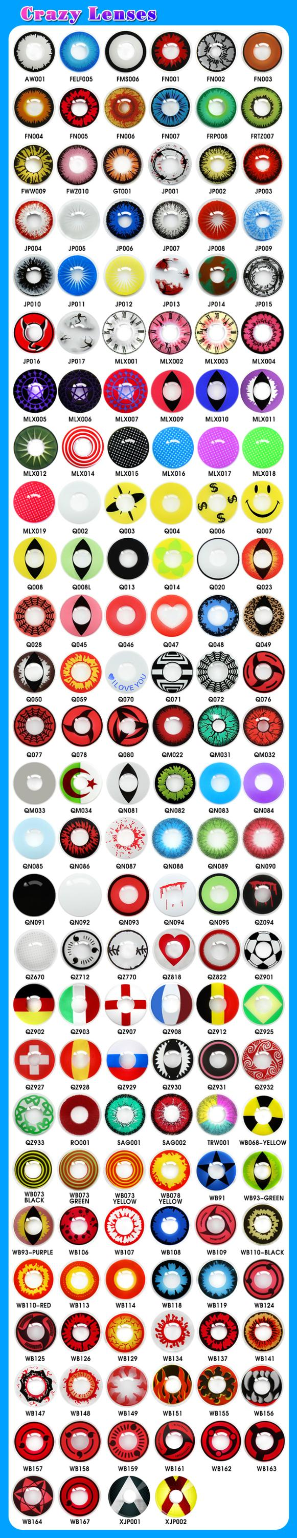 Hot Design Crazy Colored Contacts Eye Cosplay White,Halloween Lens ...